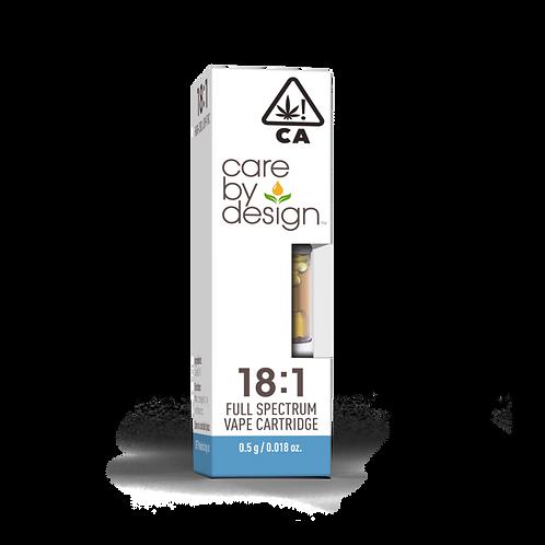 Care by Design - 18:1 CBD:THC Cartridge (1/2 Gram)