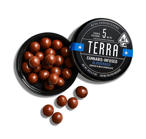 KIVA - Terra Bites - Blueberry (100mg THC)