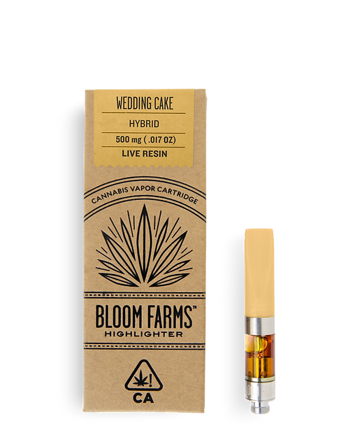 Bloom Farms - Wedding Cake (H) Live Resin Cartridge (1/2 Gram)