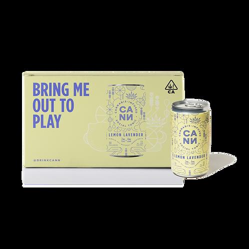 CANN - Lemon Lavender - 6 Pack (6 Cans x 2mg THC + 4mg CBD)