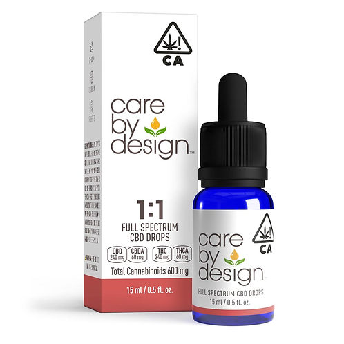 Care by Design - 1:1 CBD:THC Sublingual Drops (15 ml)