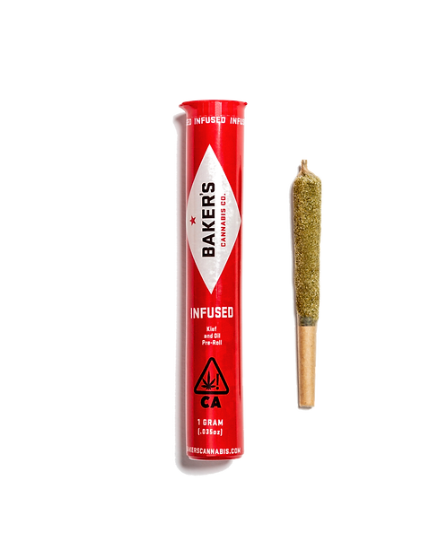 Baker's Cannabis - Garlic Breath (I) Infused Pre-Roll (1 Gram)