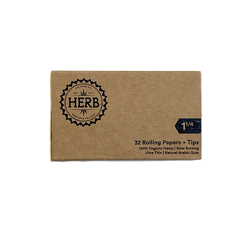 """HERB - 1 1/4"""" Rolling Papers + Tips"""