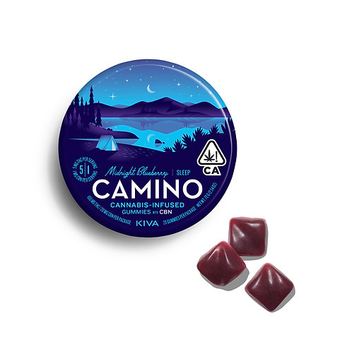 Camino - Midnight Blueberry Gummies (100mg THC + 20mg CBN)