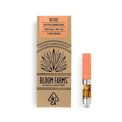 Bloom Farms - OG Fuel (S) Live Resin Cartridge (1/2 Gram)