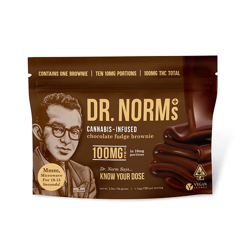 Dr. Norm's - Vegan Chocolate Fudge Brownie (100mg THC)