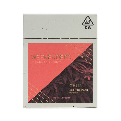 Weekenders - Chill Pre-Rolls - High CBD (7 Pack of Rolls - 1/8 Oz.)
