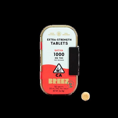 Breez - Extra-Strength Tablets - Sativa (1000mg THC)