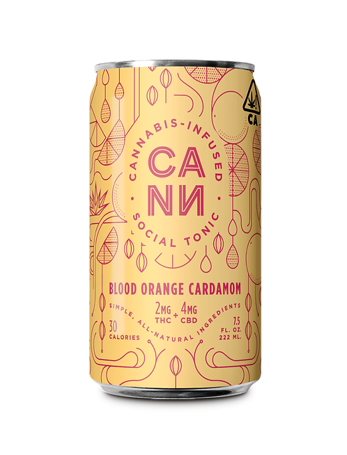 CANN - Blood Orange Cardamom (2mg THC + 4mg CBD)