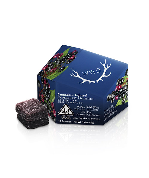 Wyld - Elderberry Gummies (I) (100mg THC + 50mg CBN)