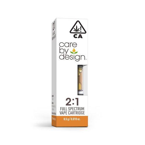 Care by Design - 2:1 CBD:THC Cartridge (1/2 Gram)