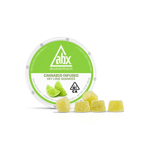 ABX - Vegan Gummies - Key Lime (100mg THC)