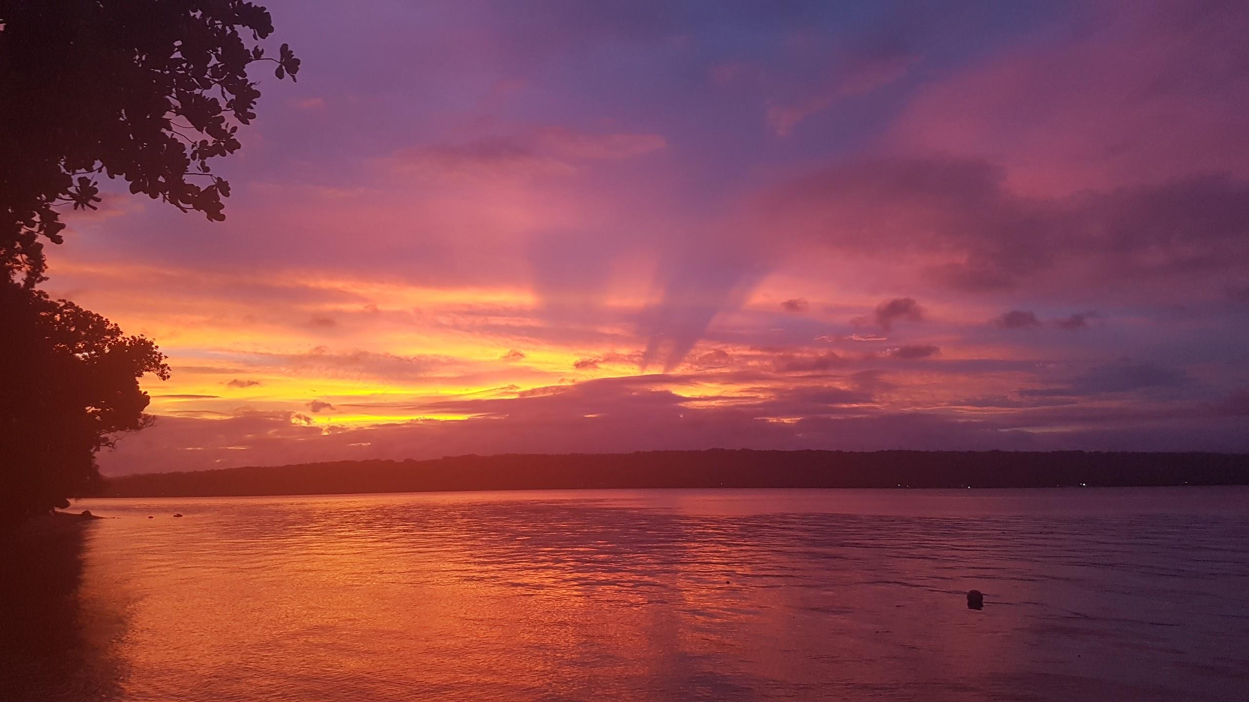 Sunset over Santo