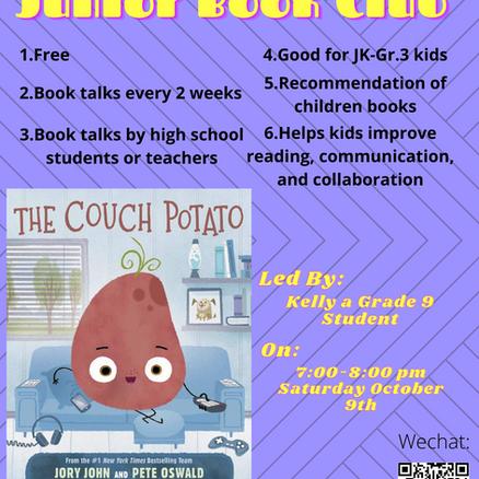 Junior Book Talk: Oct. 9