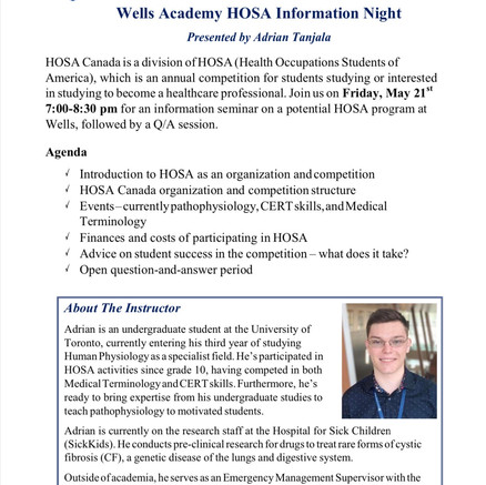 HOSA Information Night