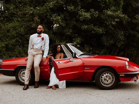 Vintage Car Elopement Shoot \ New England Summer Session