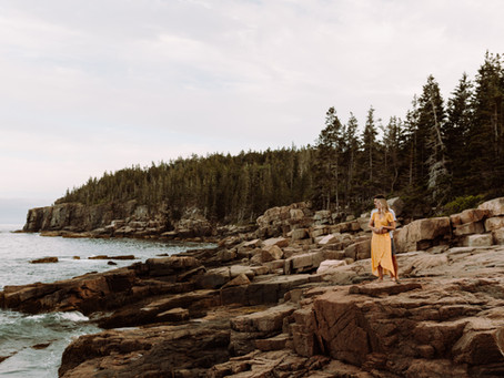 Acadia National Park Anniversary Adventure Session