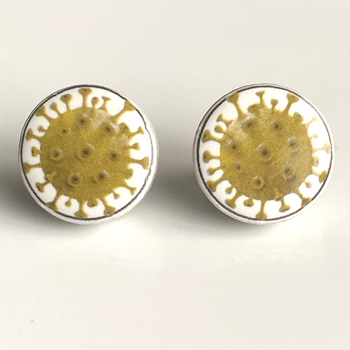 Light Green Corona Virus Pins