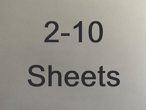 Select 2-10 sheets in quantity.