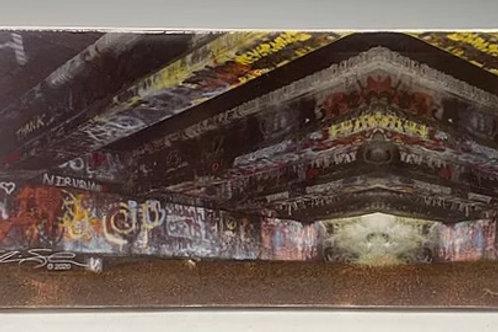 Kurt Cobain Wishkah Tile Bridge Graffiti