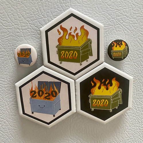 Set of Dumpster Fire Magnets