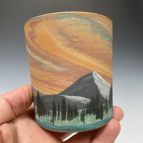 PNW Stratascape Series Cup - Hand Painted