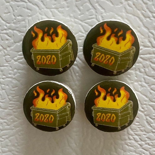 Small Dumpster Fire Magnets