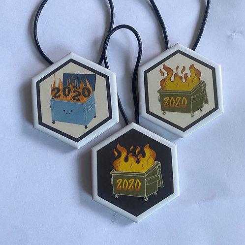 Set of Dumpster Fire Ornaments