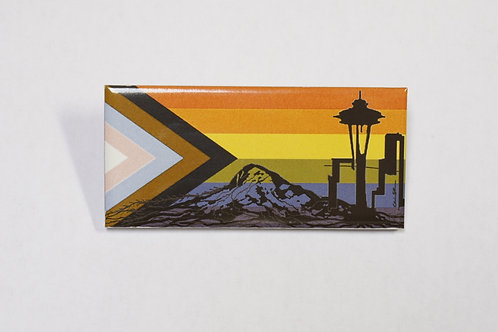 SEATTLE PRIDE MAGNETS- LARGE