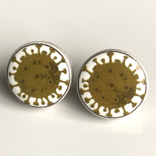 Green Corona Virus Pins