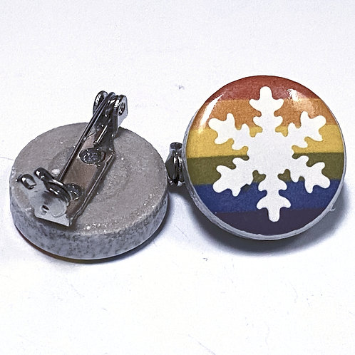 GAY SNOWFLAKE PINS (OUTLINE)