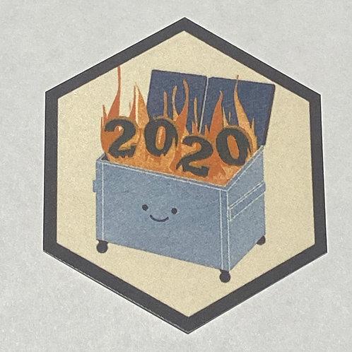 4 Dumpster Fire 2020 Ceramic Decals
