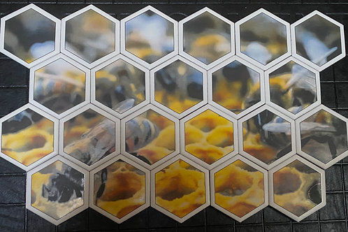 Ceramic Mosaic of Bees, our best friends.