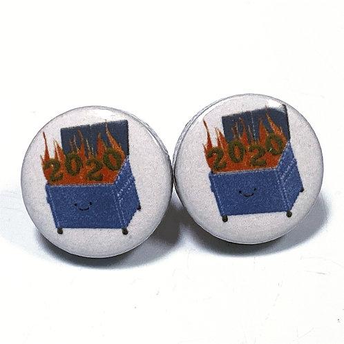 DUMPSTER FIRE EARRINGS