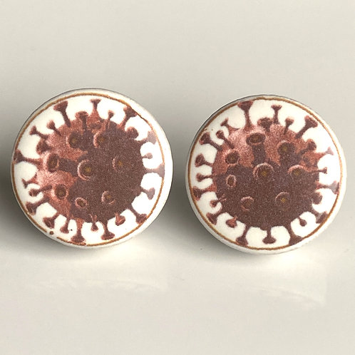 Purple Corona Virus Pins