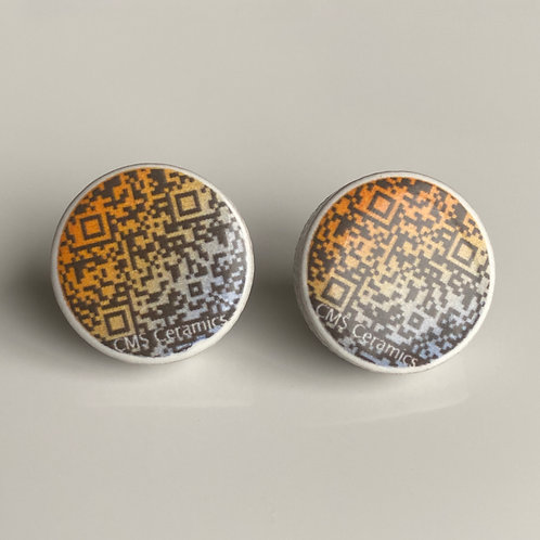 Earrings - Information Age - QR Code Design