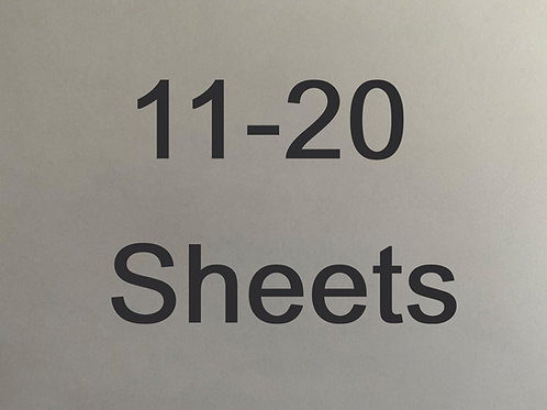 Select 11-20 sheets in quantity.