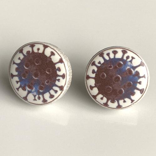 Blue Corona Virus Pins