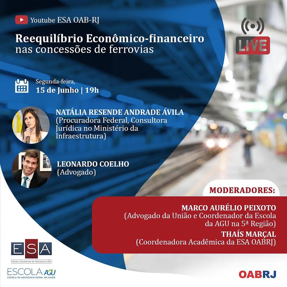 """Sócio de LL Advogados, Leonardo Coelho palestra sobre """"Reequilíbrio econômico-financeiro nas concessões de ferrovias"""""""