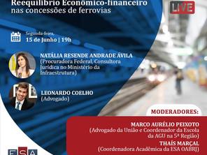 """Sócio de LL Advogados palestra sobre """"Reequilíbrio econômico-financeiro nas concessões de ferrovias"""""""