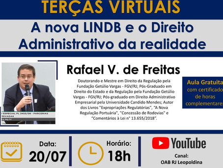 Sócio de LL Advogados ministra aula sobre a LINDB e o Direito Administrativo em canal da OAB