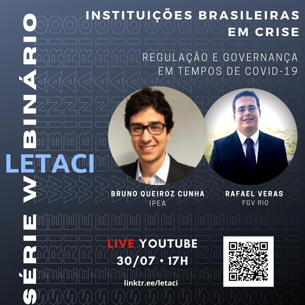 Cartaz de evento com palestra de Rafael Véras, sócio de LL Advogados