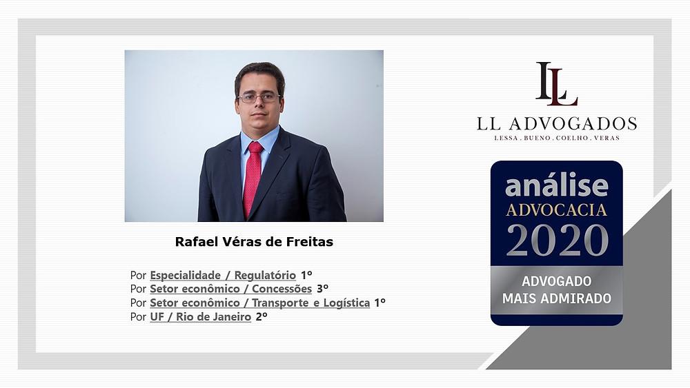 Rafael Véras entre os mais admirados no Análise 500 2020