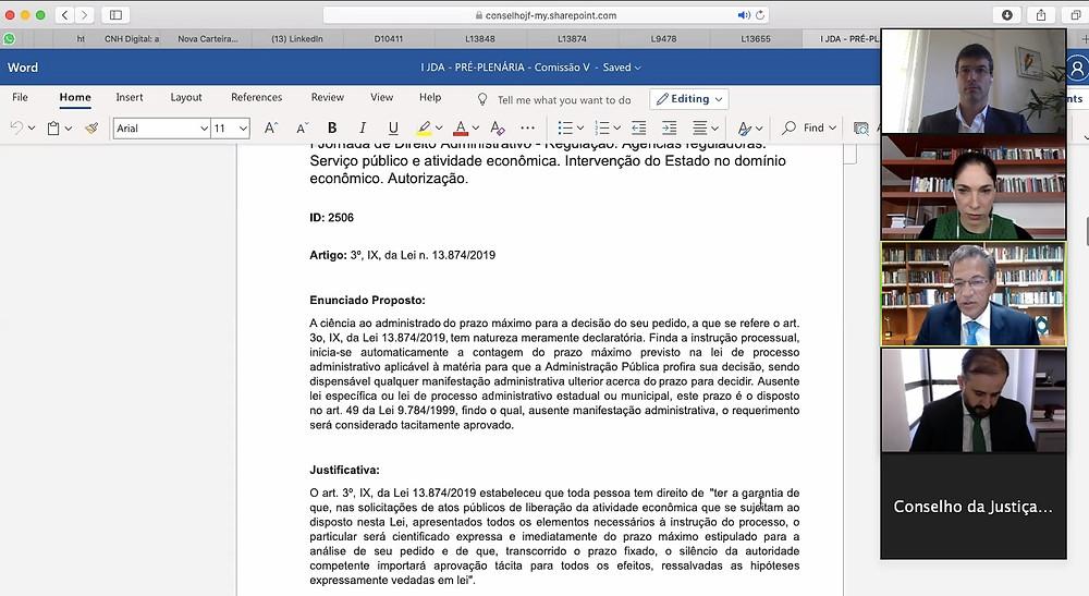 Votação de Enunciado na Comissão 5 da I Jornada de Direito Administrativo do CJF