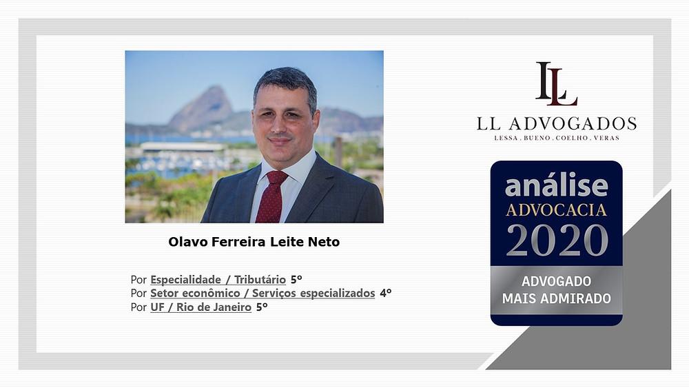 Olavo Leite entre os mais admirados no Análise 500 2020