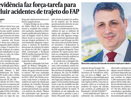 Previdência faz força-tarefa para excluir acidentes de trabalho do FAP
