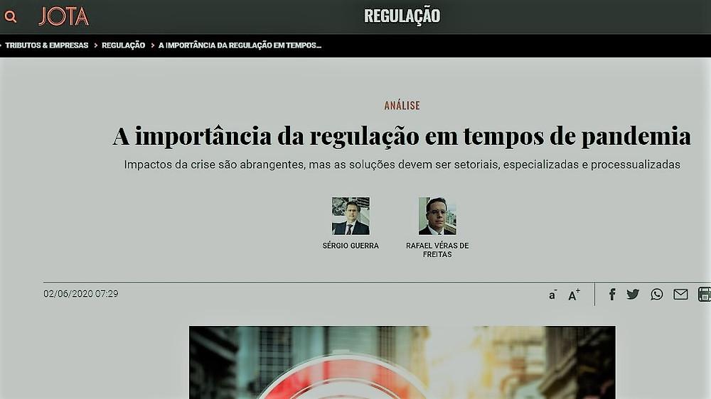 Os professores Rafael Véras, sócio de LL Advogados, e Sergio Guerra analisam a MP 966 em artigo publicado pelo Jota