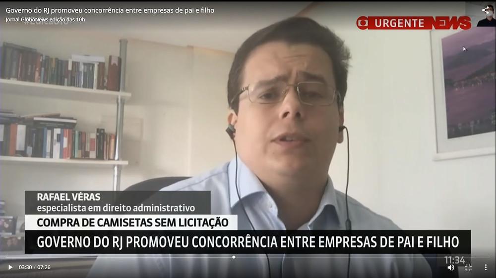 Rafael Véras concede entrevista à Globo News