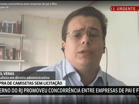 Sócio de LL Advogados concede entrevista à Globo News sobre contratação irregular do RJ