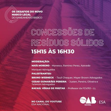 Sócio de LL Advogados palestra amanhã em seminário da OAB sobre o Novo Marco Legal do Saneamento